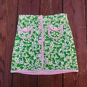 Lilly Pulitzer grils skirt corteroid size 5